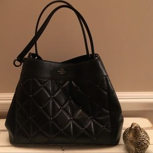 Black Quilted Coach Purse
